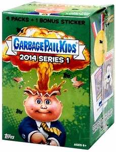 Garbage Pail Kids 2014 Series 1 Value BOX [4 Packs & 1 Bonus Sticker]
