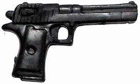 Generic 3 3/4 Inch LOOSE Action Figure Accessory Black AMT Automag II .22 Magnum Pistol