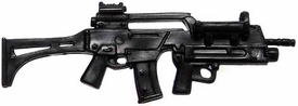 Generic 3 3/4 Inch LOOSE Action Figure Accessory Black G36 Assault Rifle with Underslung Grenade Launcher