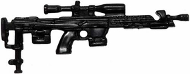 Generic 3 3/4 Inch LOOSE Action Figure Accessory Black Sniper Rifle with Scope