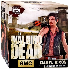 Gentle Giant Walking Dead TV Mini Bust Daryl Dixon New!