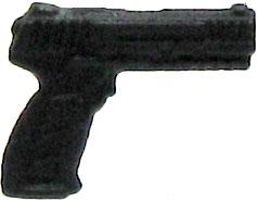 GI Joe 3 3/4 Inch LOOSE Action Figure Accessory Black Pistol [Style 4]