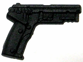 GI Joe 3 3/4 Inch LOOSE Action Figure Accessory Black Semi-Automatic Pistol