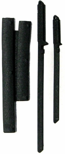 GI Joe 3 3/4 Inch LOOSE Action Figure Accessory Black Set of Tactical Swords & Back Sheath