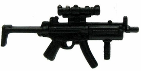 GI Joe 3 3/4 Inch LOOSE Action Figure Accessory Black Submachine Gun with Sight & Wire Stock