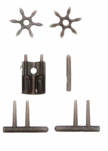 GI Joe 3 3/4 Inch LOOSE Action Figure Accessory Gunmetal Set of Small Weapons