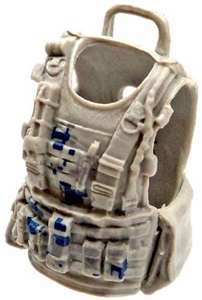 GI Joe 3 3/4 Inch LOOSE Action Figure Accessory Light Gray Flack Jacket with Blue Digital Camo