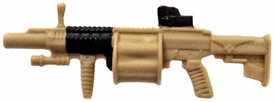 GI Joe 3 3/4 Inch LOOSE Action Figure Accessory Tan & Black MGL-140 Grenade Launcher