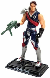 GI Joe 3 3/4 Inch LOOSE Action Figure Cobra Crimson Guard Commander Tomax [Version 6]
