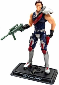GI Joe 3 3/4 Inch LOOSE Action Figure Cobra Crimson Guard Commander Xamot [Version 6]
