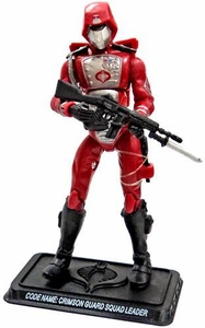 GI Joe 3 3/4 Inch LOOSE Action Figure Cobra Crimson Squad Leader