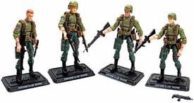 GI Joe 3 3/4 Inch LOOSE Action Figure Four Man Squad of JOE Troopers