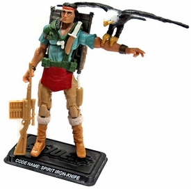 GI Joe 3 3/4 Inch LOOSE Action Figure Spirit Iron-Knife & Freedom [Version 3]