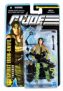 GI Joe Exclusive 3 3/4 Inch Action Figure Spirit Iron-Knife [Tracker] Facial Sculpt Looks Like Billy From The First Predator Movie!