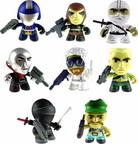 GI Joe Loyal Subjects 3 Inch Series 1 Set of 8 Vinyl Figures [Snake Eyes, Destro, Cobra Commander, Storm Shadow, Zartan, Duke, Gung-Ho & Snow Job] New!