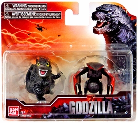 Godzilla 2014 Movie Chibi Mini Figure 2-Pack Battle Damaged Godzilla & 8-Legged Monster New Hot!