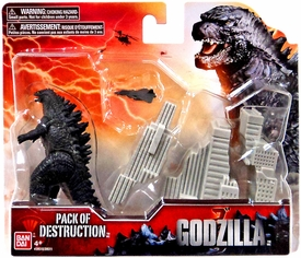 Godzilla 2014 Movie Destruction Pack Godzilla, Destructible Building & Fighter Aircraft [Random Color Buildings!]