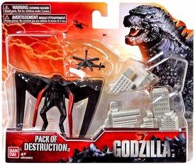 Godzilla 2014 Movie Destruction Pack Winged Monster, Destructible Buildings {RANDOM Colors} & Helicopter New!