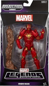 Guardians of the Galaxy Marvel Legends Action Figure Iron Man [Build Groot Piece!]