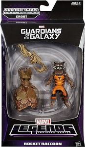 Guardians of the Galaxy Marvel Legends Action Figure Rocket Raccoon [Build Groot Piece!]