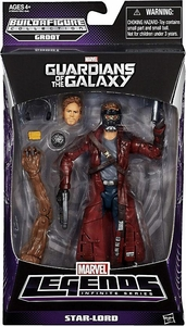 Guardians of the Galaxy Marvel Legends Action Figure Star-Lord [Build Groot Piece!] Hot!
