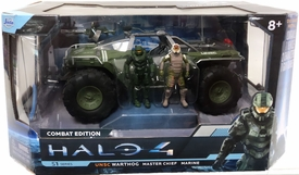 Halo 4 Jada Toys 7 Inch Die Cast Set #96620 UNSC Warthog with Master Chief & Marine {FLAT Green}