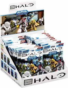 Halo Mega Bloks Alpha Minifigure Mystery Box [24 Packs]