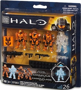Halo Mega Bloks Set #97083 UNSC Combat Orange Unit [Random Style Package, Same Contents!]