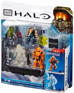 Halo Mega Bloks Set #97208 Spartan IV Battle Pack New!