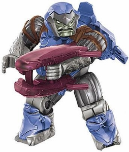 Halo Wars Mega Bloks LOOSE Mini Figure Cobalt Jump Pack Brute with Energy Rifle