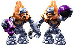Halo Wars Mega Bloks LOOSE Mini Figure Covenant Pair of 2 Orange Grunts with Energy Pistol & Plasma Grenade
