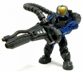 Halo Wars Mega Bloks LOOSE Mini Figure UNSC Blue Flame Marine with Flamethrower
