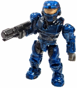 Halo Wars Mega Bloks LOOSE Mini Figure UNSC Blue Spartan