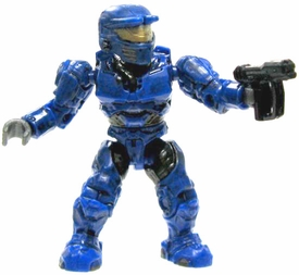 Halo Wars Mega Bloks LOOSE Mini Figure UNSC Blue Spartan with Magnum
