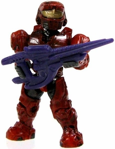 Halo Wars Mega Bloks LOOSE Mini Figure UNSC Red Spartan with Covenant Carbine