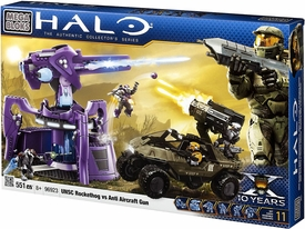 Halo Wars Mega Bloks Set #96923 UNSC Rockethog vs. Anti Aircraft Gun