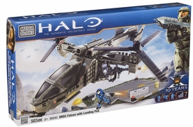 Halo Wars Mega Bloks Set #96940 UNSC Falcon with Landing Pad