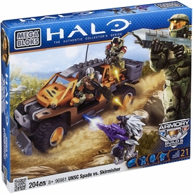 Halo Wars Mega Bloks Set #96981 UNSC Spade vs. Skirmisher