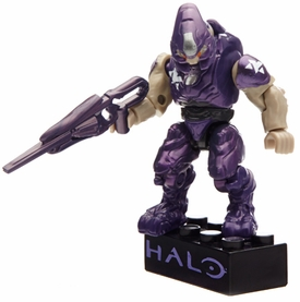 Halo Wars Mega Bloks Set #97356 Metallic Elite Drop Pod [Purple Elite Soldier] Pre-Order ships July
