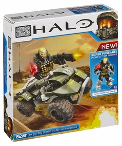 Halo Wars Mega Bloks Set #97339 UNSC All-Terrain Mongoose Hot! Pre-Order ships July