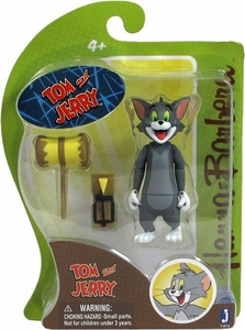 Hanna Barbera 3 Inch Figure Tom with Mouse Trap & Hammer