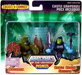 He-Man Masters of the Universe Exclusive Mini Figure 2-Pack Mossman & Battle Armor Skeletor Pre-Order ships September