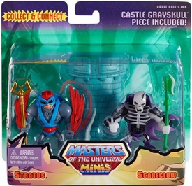 He-Man Masters of the Universe Exclusive Mini Figure 2-Pack Scareglow & Stratos New!
