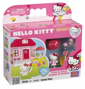 Hello Kitty Mega Bloks Set #10820 Candy Shop