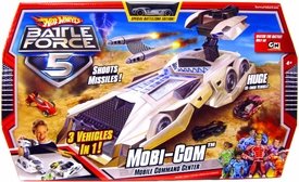 Hot Wheels Battle Force 5 Playset Mobi-Com Mobile Command Center [3 Vehicles in 1]
