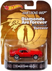 Hot Wheels Retro Diamonds Are Forever 1:55 Die Cast Car '71 Mustang Mach 1