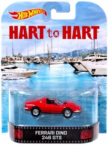 Hot Wheels Retro Hart to Hart 1:55 Die Cast Car Ferrari Dino 246 GTS