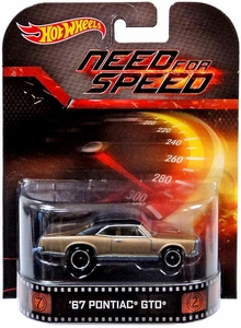 Hot Wheels Retro Need for Speed 1:55 Die Cast Car '67 Pontiac GTO