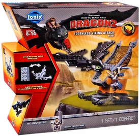 How to Train Your Dragon 2 Ionix #21001 Toothless Viking Attack Set New!