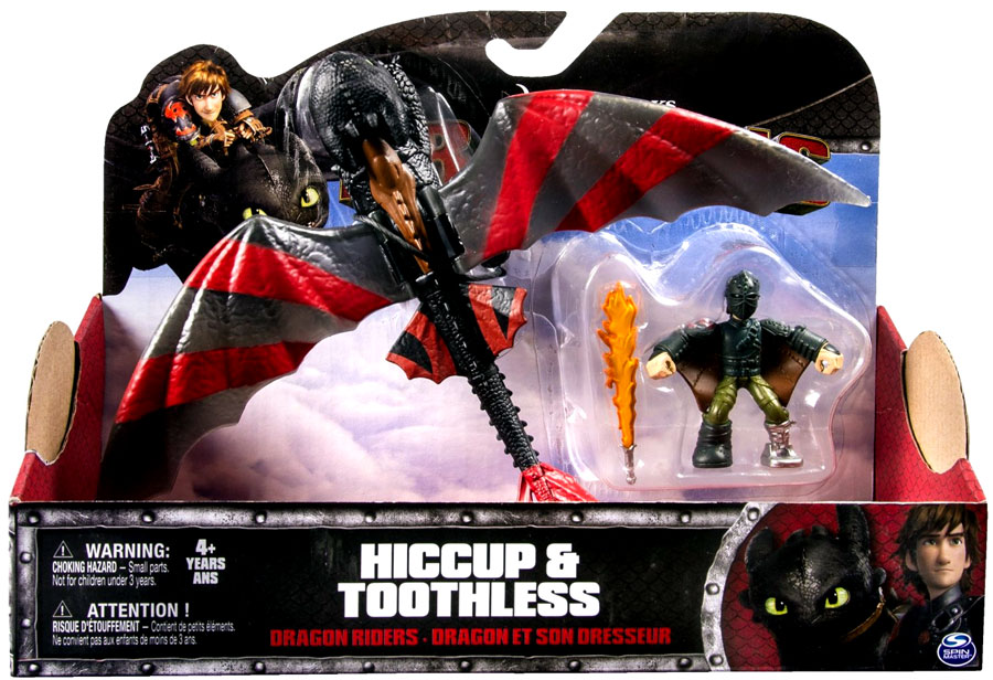 Hiccup & Toothless Action Figure 2-Pack Armor / Red Stripes